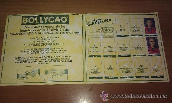Coleccionismo deportivo: ALBUM BOLLYCAO FUTBOL 96 97 LIGA 1996 1997 CON 25 CROMOS PEGADOS - - Foto 2 - 42915372