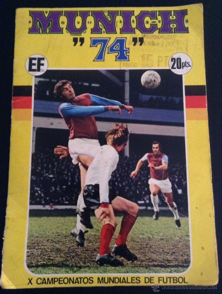 ALBUM DE CROMOS DE FUTBOL MUNICH 74 CASI COMPLETO ( FALTAN 5 CROMOS ) (Coleccionismo Deportivo - Álbumes y Cromos de Deportes - Álbumes de Fútbol Incompletos)