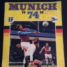 Coleccionismo deportivo: ALBUM DE CROMOS DE FUTBOL MUNICH 74 CASI COMPLETO ( FALTAN 5 CROMOS ). Lote 43772736