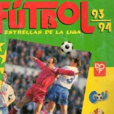 Coleccionismo deportivo: ALBUM FÚTBOL 93/94 ESTRELLAS DE LA LIGA INCOMPLETO. Lote 44392624