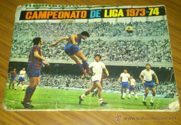 ALBUM CROMOS - CAMPEONATO DE LIGA 1973-74 (Coleccionismo Deportivo - Álbumes y Cromos de Deportes - Álbumes de Fútbol Incompletos)