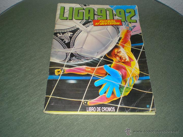ALBUM LIGA 91-92 DE ESTE (Coleccionismo Deportivo - Álbumes y Cromos de Deportes - Álbumes de Fútbol Incompletos)