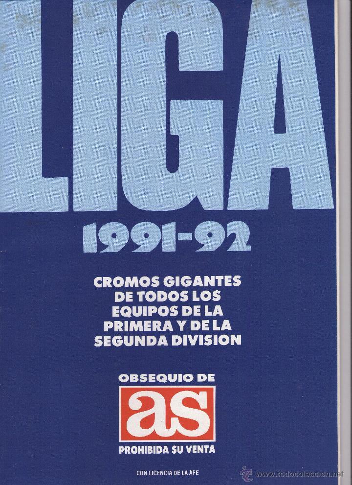 LIGA 1991-92 Y ESCUELA DE FUTBOL GENTO EL MEJOR EXTREMO IZQUIERDO DEL MUNDOE (Coleccionismo Deportivo - Álbumes y Cromos de Deportes - Álbumes de Fútbol Incompletos)