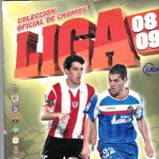Coleccionismo deportivo: ÁLBUM ESTE 2008/09 CASI COMPLETO 58 SON FICHAJES. Lote 45465543