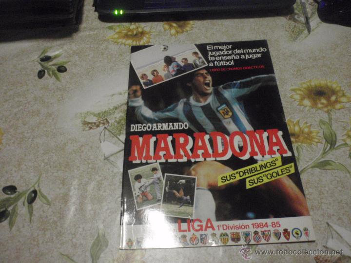 ALBUM DE CROMOS DE FÚTBOL VACÍO COLECCIÓN MARADONA 1984-85. PLANCHA. (Coleccionismo Deportivo - Álbumes y Cromos de Deportes - Álbumes de Fútbol Incompletos)