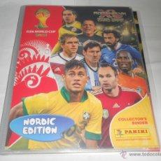 Coleccionismo deportivo: VERSION NORDIC ALBUM FICHERO ARCHIVADOR VACIO ADRENALYN CROMOS FIFA WORLD CUP BRAZIL BRASIL 2014 14. Lote 45688748