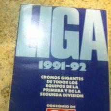 Coleccionismo deportivo: ALBUM DE LA LIGA 91-92 Y ESCUELA DE FUTBOL DE GENTO PERIODICO AS. Lote 45727286