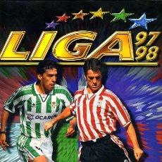 Coleccionismo deportivo: ALBUM FUTBOL LIGA 1997 1998 97 98 , ESTE , CON MUCHISIMOS CROMOS ,VER FOTOS ,ORIGINAL, AA. Lote 45729122