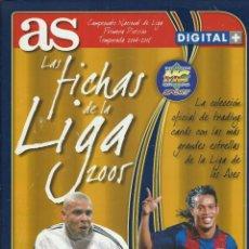 Coleccionismo deportivo: ALBUM DE LA COLECCION DE LAS FICHAS DE LA LIGA 04-05 - DIARIO AS CON 218 CROMOS. Lote 45836223