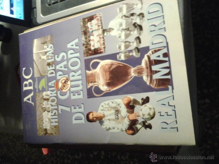 ABC. HISTORIA DE LAS 7 COPAS DE EUROPA. REAL MADRID. (Coleccionismo Deportivo - Álbumes y Cromos de Deportes - Álbumes de Fútbol Incompletos)