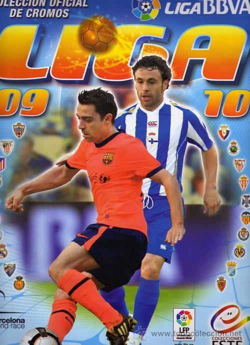ALBUM DE FUTBOL EDICIONES ESTE 2009/2010 CON 402 CROMOS ENTRE ELLOS MESSI, FICHAJES, Y ALGÚN CHICLE (Coleccionismo Deportivo - Álbumes y Cromos de Deportes - Álbumes de Fútbol Incompletos)