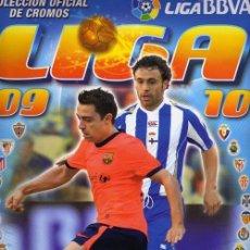 Coleccionismo deportivo: ALBUM DE FUTBOL EDICIONES ESTE 2009/2010 CON 402 CROMOS ENTRE ELLOS MESSI, FICHAJES, Y ALGÚN CHICLE. Lote 46225555