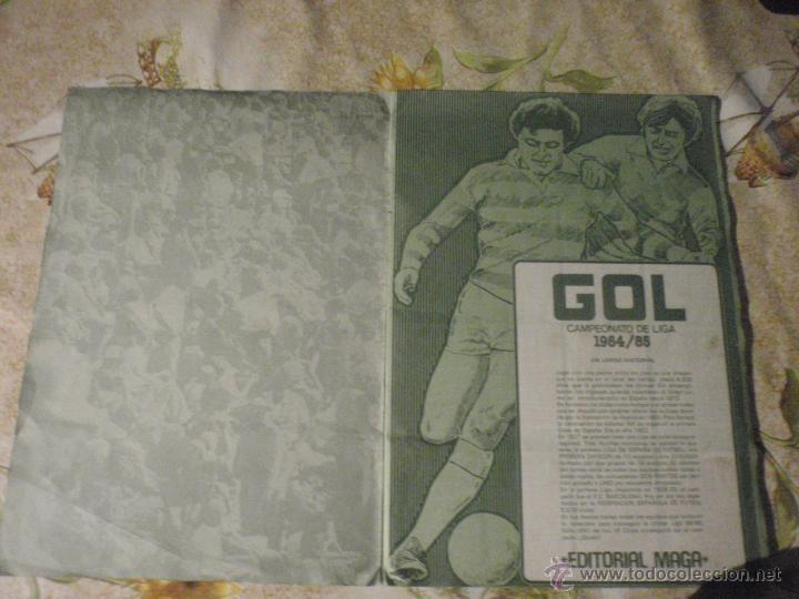 Coleccionismo deportivo: ALBUM de cromos de fútbol EDITORIAL MAGA LIGA 1984-85. CASI COMPLETO - Foto 2 - 46502659