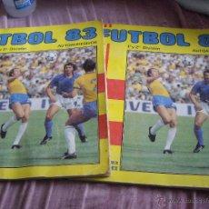 Coleccionismo deportivo: LOTE 2 ALBUNES FUTBOL 1983 CON CASI 400 CROMOS. Lote 135008457