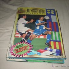 Coleccionismo deportivo: ALBUM DE LA LIGA 1995-96 DE ESTE CON 93 CROMOS DOBLES. Lote 47069027