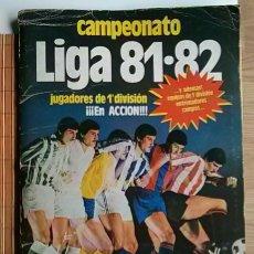 Coleccionismo deportivo: ALBUM CROMOS CAMPEONATO DE LIGA 81-82 CON 250 CROMOS. Lote 47338647