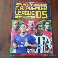 Coleccionismo deportivo: PREMIER LEAGUE 04 05 AUTOGRAPH EDITION MERLIN. Lote 47535348