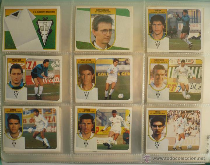 LOTE ESTE 1991-92. 447 CROMOS DIFERENTES - EDICIONES ESTE 91-92 CASI COMPLETA. FALTAN 12 CROMOS. (Coleccionismo Deportivo - Álbumes y Cromos de Deportes - Álbumes de Fútbol Incompletos)