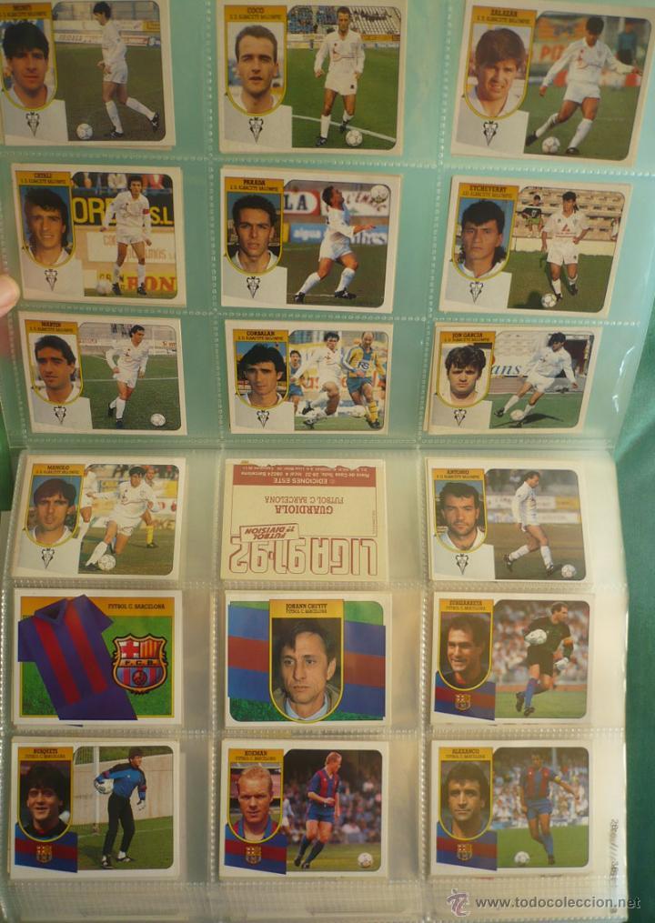 Coleccionismo deportivo: LOTE ESTE 1991-92. 447 CROMOS DIFERENTES - EDICIONES ESTE 91-92 CASI COMPLETA. FALTAN 12 CROMOS. - Foto 2 - 29660923