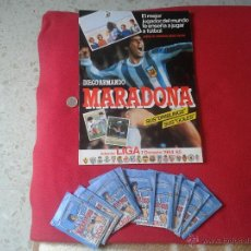 Coleccionismo deportivo: ALBUM PLANCHA VACIO MAS 10 SOBRES DE CROMOS SIN ABRIR COLECCION MARADONA LIGA 1984 1985 84 85 1ª DIV. Lote 47988491