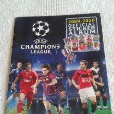 Coleccionismo deportivo: ALBUM UEFA CHAMPIONS LEAGUE 2009-2010 PANINI CON 110 CROMOS PEGADOS. Lote 48224468