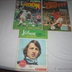 Coleccionismo deportivo: LOTAZO DE 3 ALBUMES DE FUTBOL DE LOS AÑOS 70 ,MUY BIEN DE PRECIO. Lote 48635068
