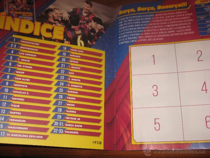 Coleccionismo deportivo: ALBUM PLANCHA - FC BARCELONA 2014-2015 PANINI COLECCION OFICIAL DE CROMOS BARÇA SIN CROMOS ESTE FOTO - Foto 2 - 81212743