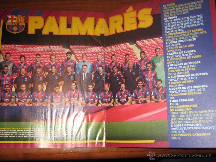 Coleccionismo deportivo: ALBUM PLANCHA - FC BARCELONA 2014-2015 PANINI COLECCION OFICIAL DE CROMOS BARÇA SIN CROMOS ESTE FOTO - Foto 3 - 81212743