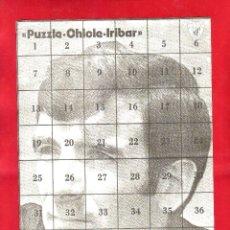 Coleccionismo deportivo: ÁLBUM DE CROMOS DE FÚTBOL VACÍO DE IRIBAR ATHLETIC DE BILBAO - PUZZLE CHICLE . Lote 48822895