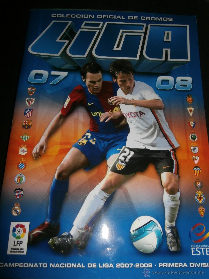 ALBUM DE CROMOS, FUTBOL, LIGA 2007-2008, BBVA, ALBUM OFICIAL, PANINI, (Coleccionismo Deportivo - Álbumes y Cromos de Deportes - Álbumes de Fútbol Incompletos)