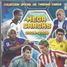 Coleccionismo deportivo: ALBUM DE FUTBOL MEGA CRACKS 2005/2006 CON 363 FICHAS . Lote 49415497