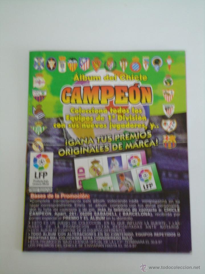 ALBUM DE CROMOS DEL CHICLE CAMPEON. AÑO 1997. INCOMPLETO (Coleccionismo Deportivo - Álbumes y Cromos de Deportes - Álbumes de Fútbol Incompletos)