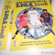 Coleccionismo deportivo: HOJAS PARA ALBUM FICHERO ARCHIVADOR PLASTICO CROMOS MUNDICROMO LIGA FUTBOL 2007 2008 07 08. Lote 49863707
