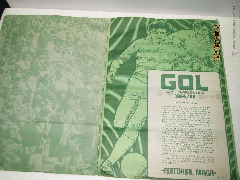 Coleccionismo deportivo: Antiguo Album FUTBOL Campeonato de Liga 1984 1985 de Editorial MAGA - Foto 16 - 50108074