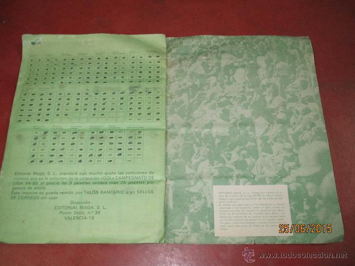 Coleccionismo deportivo: Antiguo Album FUTBOL Campeonato de Liga 1984 1985 de Editorial MAGA - Foto 18 - 50108074