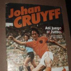 Coleccionismo deportivo: ALBUM JOHAN CRUYFF ASI JUEGO AL FUTBOL,CROPAN,CON 74 CROMOS. Lote 50276819