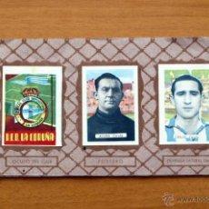 Coleccionismo deportivo: DEPORTIVO LA CORUÑA - EDITORIAL RUIZ ROMERO 1951-1952, 51-52 - SIN PORTADAS,CON 22 CROMOS. Lote 50392580