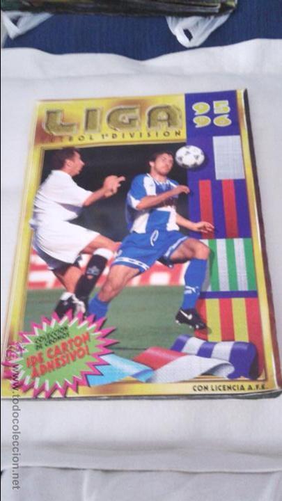 ALBUM ESTE 95-96 MUY COMPLETO CON VARIOS DOBLES, COLOCAS FICHAJE. VERSION SIN ALBACETE / VALLADOLID (Coleccionismo Deportivo - Álbumes y Cromos de Deportes - Álbumes de Fútbol Incompletos)