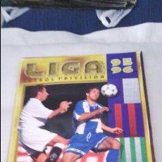 Coleccionismo deportivo: ALBUM ESTE 95-96 MUY COMPLETO CON VARIOS DOBLES, COLOCAS FICHAJE. VERSION SIN ALBACETE / VALLADOLID. Lote 50460482
