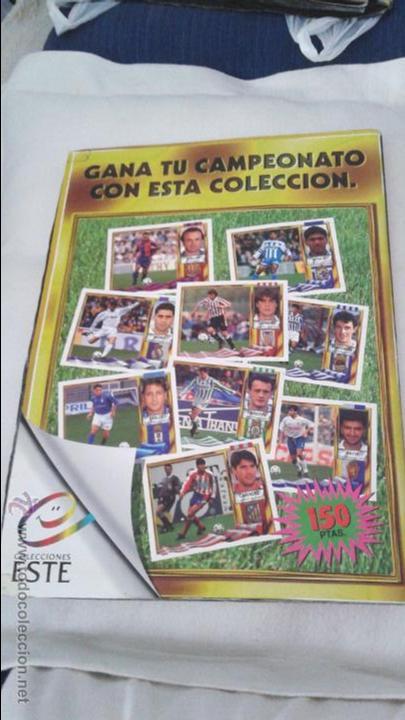 Coleccionismo deportivo: ALBUM ESTE 95-96 MUY COMPLETO CON VARIOS DOBLES, COLOCAS FICHAJE. VERSION SIN ALBACETE / VALLADOLID - Foto 5 - 50460482
