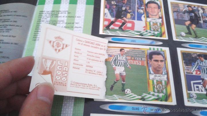 Coleccionismo deportivo: ALBUM ESTE 95-96 MUY COMPLETO CON VARIOS DOBLES, COLOCAS FICHAJE. VERSION SIN ALBACETE / VALLADOLID - Foto 38 - 50460482