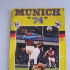 Coleccionismo deportivo: MUNICH 74 MUNDIAL DE FUTBOL EDITORIAL FHER ALBUM DE CROMOS INCOMPLETO CASI VACÍO. Lote 50671012