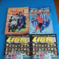 Coleccionismo deportivo: 4 ALBUNES DE CROMOS - FÚTBOL - LIGAS 2009 A 2013 - PANINI - COLECCIÓN OFICIAL LIGA BBVA. Lote 50742606