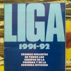 Coleccionismo deportivo: ALBUM INCOMPLETO LOS ASES DE LA LIGA 91 92 1991 1992 + ESCUELA DE FUTBOL GENTO PERIODICO AS. Lote 50934393