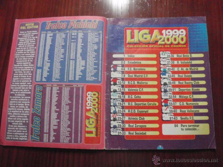 Coleccionismo deportivo: ALBUM de cromos de fútbol LIGA 1999-2000 de PANINI. Vacío - Foto 2 - 50950851