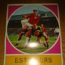 Coleccionismo deportivo: ALBUM TRIPTICO ESTRELLAS DEL FUTBOL DE CHOCOLATES LA CIBELES. VACIO. NUEVO. Lote 51239501
