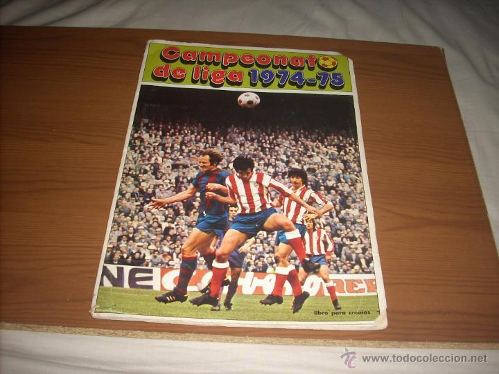 ALBUM DE LA LIGA 1974-75 DE FHER (Coleccionismo Deportivo - Álbumes y Cromos de Deportes - Álbumes de Fútbol Incompletos)