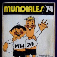 Coleccionismo deportivo: ALBUM MUNDIALES 74. CASI COMPLETO. SOLO A FALTA DE 1 CROMO. 1974. VIAJES ECUADOR-LA GACETA DEL NORTE. Lote 51783925