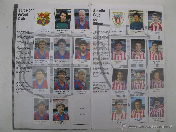 Coleccionismo deportivo: ÁLBUM DE CROMOS - LIGA FÚTBOL 91-92 - BIMBO. - Foto 3 - 51959835