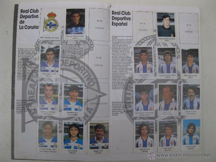 Coleccionismo deportivo: ÁLBUM DE CROMOS - LIGA FÚTBOL 91-92 - BIMBO. - Foto 5 - 51959835